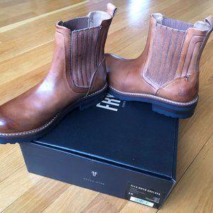 Frye Ella Moto Chelsea Cognac Boots NIB New Box